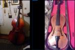 Kontrabas Sperka i violina Guseto